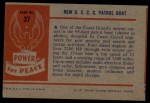 1954 Bowman Power for Peace #37   New U.S.C.G. Patrol Boat Back Thumbnail