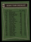 1978 Topps #504   Bears Leaders Checklist Back Thumbnail