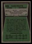 1975 Topps #367  Dan Fouts  Back Thumbnail