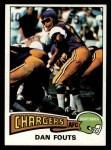 1975 Topps #367  Dan Fouts  Front Thumbnail
