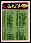 1976 Topps #507   Checklist Front Thumbnail