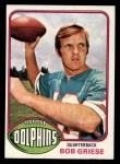 1976 Topps #255  Bob Griese  Front Thumbnail