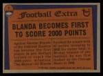 1976 Topps #1   -  George Blanda  Record Breaker Back Thumbnail