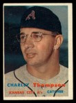 1957 Topps #142  Charley Thompson  Front Thumbnail