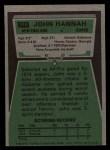 1975 Topps #318  John Hannah  Back Thumbnail