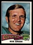 1975 Topps #100  Bob Griese  Front Thumbnail
