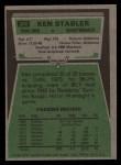 1975 Topps #380  Ken Stabler  Back Thumbnail