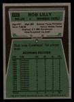 1975 Topps #175  Bob Lilly  Back Thumbnail