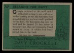 1956 Topps Davy Crockett #74 GRN  Straight For Davy  Back Thumbnail