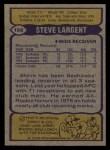 1979 Topps #198  Steve Largent  Back Thumbnail