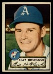 1952 Topps #182 CRM Billy Hitchcock  Front Thumbnail