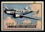 1952 Topps Wings #6   AT-7 Navigator Front Thumbnail