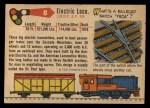 1955 Topps Rails & Sails #8   Electric Locomotive Back Thumbnail