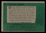1956 Topps Davy Crockett #20 GEO  Ambush Back Thumbnail