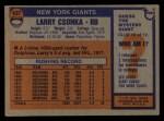1976 Topps #437  Larry Csonka  Back Thumbnail