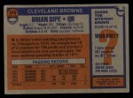 1976 Topps #516  Brian Sipe   Back Thumbnail