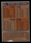 1976 Topps #478   Redskins Team Checklist Back Thumbnail