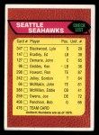 1976 Topps #476   Seahawks Team Checklist Front Thumbnail