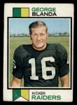 1973 Topps #25  George Blanda  Front Thumbnail