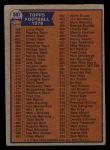 1976 Topps #507   Checklist Back Thumbnail