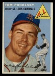 1954 Topps #142  Tom Poholsky  Front Thumbnail
