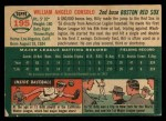 1954 Topps #195  Billy Consolo  Back Thumbnail