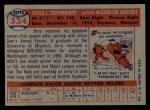 1957 Topps #334  Jerry Schoonmaker  Back Thumbnail