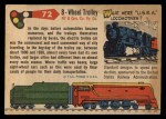 1955 Topps Rails & Sails #72   8-Wheel Trolley Back Thumbnail