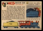 1955 Topps Rails & Sails #62   Mckeen Motor Car Back Thumbnail