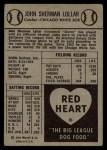 1954 Red Heart #17  Sherman Lollar    Back Thumbnail