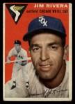 1954 Topps #34  Jim Rivera  Front Thumbnail