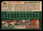 1954 Topps #146  Don Johnson  Back Thumbnail