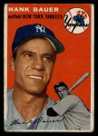 1954 Topps #130  Hank Bauer  Front Thumbnail
