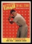 1958 Topps #477   -  Bill Skowron All-Star Front Thumbnail