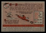1958 Topps #454  Harry Hanebrink  Back Thumbnail