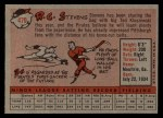 1958 Topps #470  R.C. Stevens  Back Thumbnail