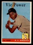 1958 Topps #406  Vic Power  Front Thumbnail
