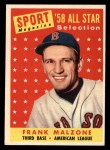 1958 Topps #481   -  Frank Malzone All-Star Front Thumbnail