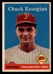1958 Topps #460  Chuck Essegian  Front Thumbnail
