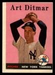 1958 Topps #354  Art Ditmar  Front Thumbnail