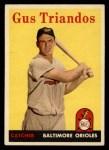 1958 Topps #429  Gus Triandos  Front Thumbnail