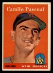 1958 Topps #219  Camilo Pascual  Front Thumbnail