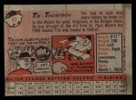 1958 Topps #57 WN Tim Thompson  Back Thumbnail