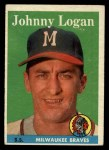 1958 Topps #110  Johnny Logan  Front Thumbnail