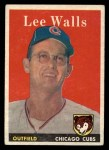 1958 Topps #66  Lee Walls  Front Thumbnail