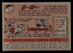 1958 Topps #13 ^WN^ Billy Hoeft  Back Thumbnail
