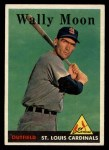 1958 Topps #210  Wally Moon  Front Thumbnail