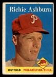 1958 Topps #230  Richie Ashburn  Front Thumbnail