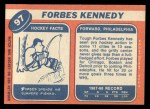 1968 Topps #97  Forbes Kennedy  Back Thumbnail