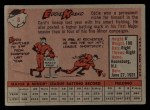 1958 Topps #8 ^WN^ Eddie Kasko  Back Thumbnail